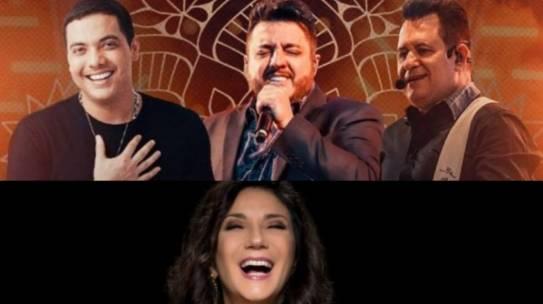 Lives do fim de semana: Wesley Safadão e Bruno & Marrone, Zizi Possi e Paralamas do Sucesso