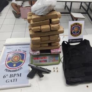 Polícia Militar apreende 20 quilos de maconha em Jaboatão dos Guararapes