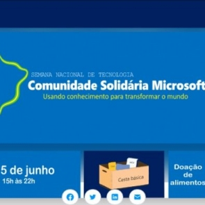Centro de Serviço à Vida participa de evento solidário da Microsoft